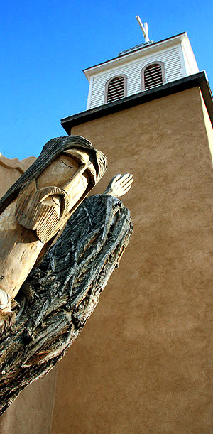 Effigy of Jesus, Los Cerrillos church, New Mexico