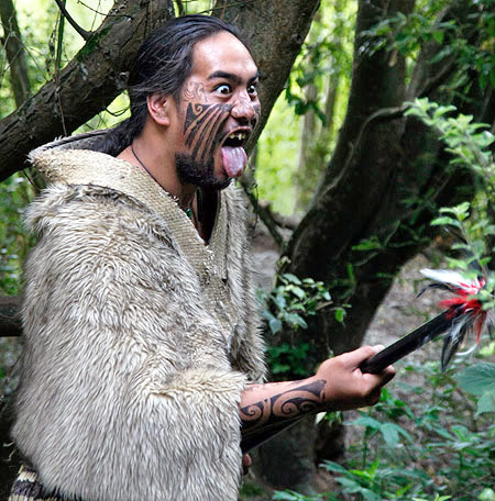 Maori warrior, New Zealand