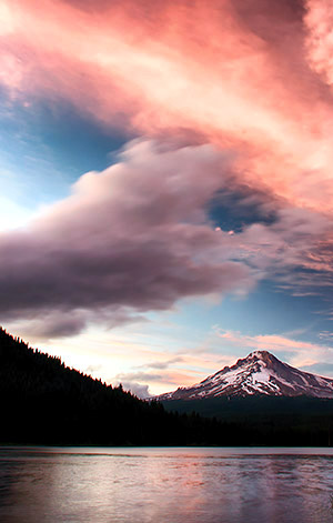 Trillium Lake, and Mount Hood, Oregon