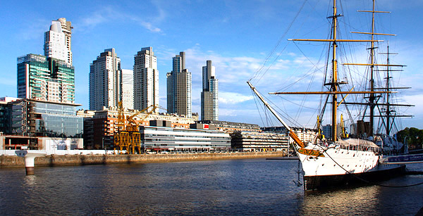 Puerto Madero Waterfront in the River Plate, Buenos Aires, Argentina