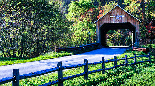 Cilley covered bridge, Tunbridge, Vermont, New England