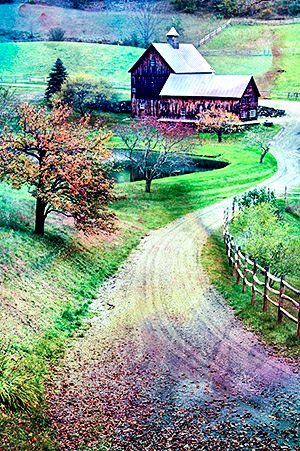 Sleepy Hollow Farm, near Woodstock, Vermont, New England